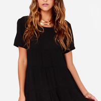 Cult Following Black Shift Dress