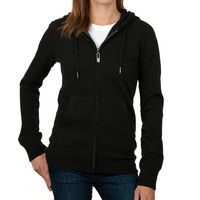 Girls Basic Zip Hoodie Black