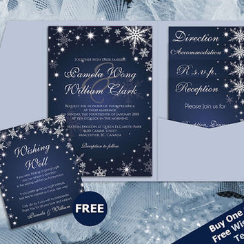 Shop royal blue wedding invitations on wanelo diy printable wedding pocket fold invitation set a7 5 x 7 editable ms word file filmwisefo