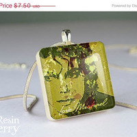 ON SALE: scrabble tile pendant,Michael Jackson resin pendants,art jewelry pendants,fine photo pendant- W0319SP