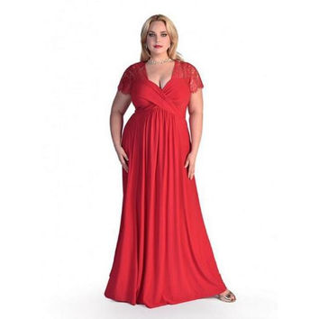 Clobee Women Dress 2017 Plus Size XL-6XL Chiffon Maxi Dress Elegant Ladies Wear Sexy Lace Patchwork Vintage Party Dress M363