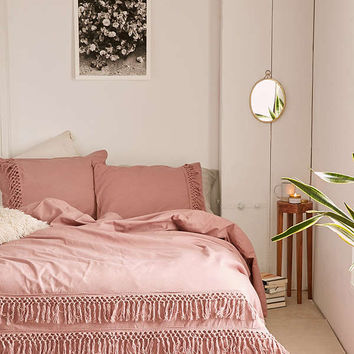 Magical Thinking Net Tassel Duvet Cover | Urban Outfitters