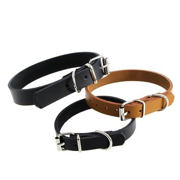 Cow Leather Cat Puppy Collar