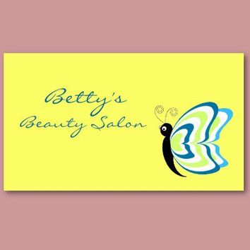 Beauty Salon Butterfly Business Cards from Zazzle.com