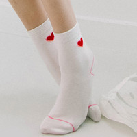 HEART CLUBHeart Pattern Crew Length Socks | mixxmix