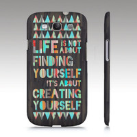 Samsung Galaxy S3 case, typography, quote, inspirational quote, colorful text, triangle, art for your phone