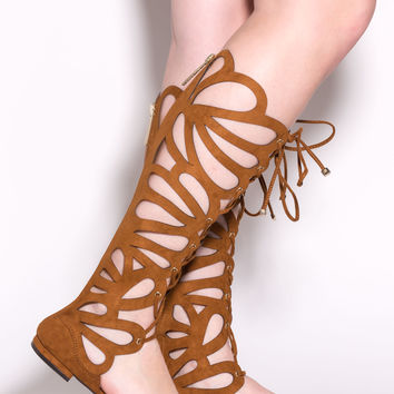 Winging It Cut-Out Gladiator Sandals