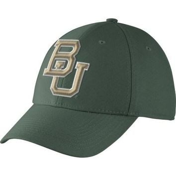 Nike Men's Baylor Bears Green Dri-FIT Swoosh Flex Performance Hat