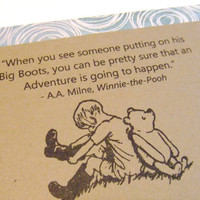 An Adventure Winnie the Pooh Quote Classic by prettypetalspaper