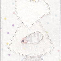 June Bride Sue Quilted Fabric Postcard
