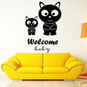 Welcome Baby Kitty Cat Pets Home Sweet Home Decor For Living Room Unique Gift (z2576)