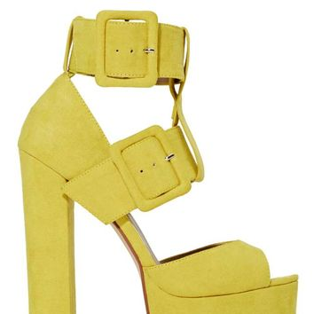 Shoe Cult Buckle Up Platform