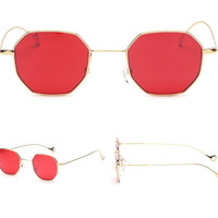 Bella Tinted Polygon Sunglasses
