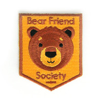 Bear Friend Society Iron On Patch