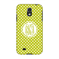 Samsung Galaxy cases, Samsung Galaxy s4 case,Green Baby Dots Samsung S4 Monogrammed case, Monogram samsung cases, Galaxy s3/Note 2 cases