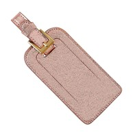 Luggage Tag - Rose Gold Leather