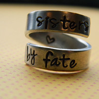 sisters by fate aluminum ring