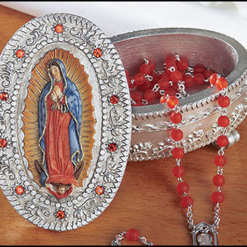 Guadalupe Rosary Box