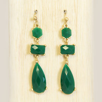 Pine Green Venice Earrings