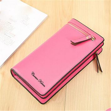 2017 7Colors New Men Wallet Card Holder Business Pockets Women Wallet Purse Long Faux Leather High Quality Free Shipping P185