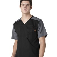 Carhartt Men's Ripstop Color Block Scrub Top