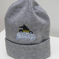 Embroidered Snow Boarding Beanie with Cuff