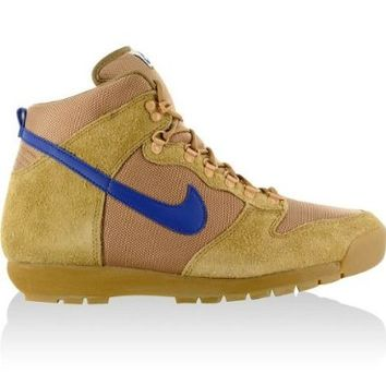 Nike ACG Lava Dunk High Top Vintage Wheat Brown/Blue Suede Gum Boots Men Shoes:Amazon:Shoes