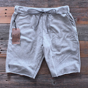 Mini Keys Cut Off Terry Shorts Grey