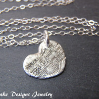 Recycled silver necklace  song in my heart music lover gift fine silver Eco friendly jewelry