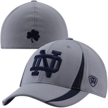 Top Of The World Notre Dame Fighting Irish Triumph 1Fit Flex Hat - Gray