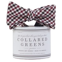 The Mitchell Bow in Garnet/Black by Collared Greens