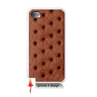 Ice Cream Sandwich Iphone 4 case, Iphone case, Iphone 4s case, Iphone 4 cover, i phone case, i phone 4s case