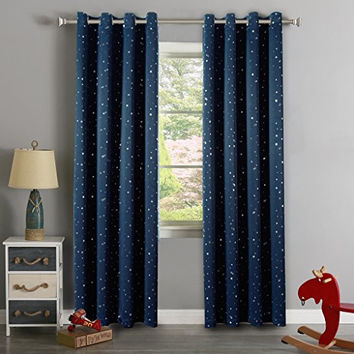 H.Versailtex Cute Star War Pattern Ultra Sleep Energy Saving Thermal Insulated Blackout Curtains for Boy's Room, Grommet Window Drapes for Spring /Summer, 52 by 96 - Inch, 1 Panel
