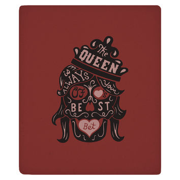 The Queen of Hearts Fleece Throw
