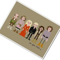Pixel People - The Princess Bride - PDF Cross Stitch PATTERN