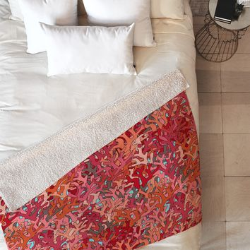 Sharon Turner Coral 2 Fleece Throw Blanket