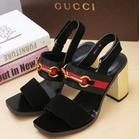 GUCCI Middle heel sandals in Gucci Classic Series-8