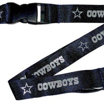 Dallas Cowboys Blue Lanyard Keychain Keyring Badge Holder Licensed Breakaway New