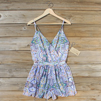 The Nile Romper in Blue