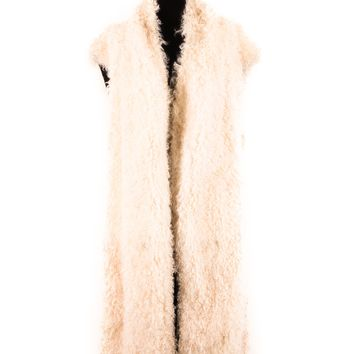 Margiela Mongolian Lamb Fur Long Vest