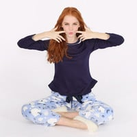 Winter Warm Sleepwear Set Lovely Flannel Pajamas Long Sleeve Tops and Pants [9575855311]