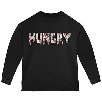 Halloween Hungry Zombie Pattern Toddler Long Sleeve T Shirt