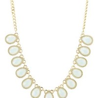 Faceted Stone Statement Necklace by Charlotte Russe