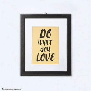 Do what you love print-gold print-motivational quote print-home decor-print-office decor-typography print-modern print-NATURA PICTA-NPGP11