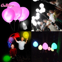50pcs/lot White LED Lamps Balloon Lights LED Balloon Light for Wedding Decoration Birthday Party Product Event Party Supplies
