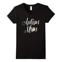 Autism Mom Puzzle Heart Tee Vision T-Shirt