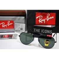 Authentic Ray Ban Aviator Outdoorsman RB3407 002 58MM Medium