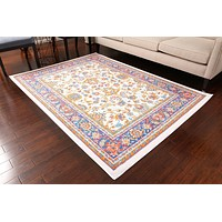 0843 White Colorful Oriental Area Rugs