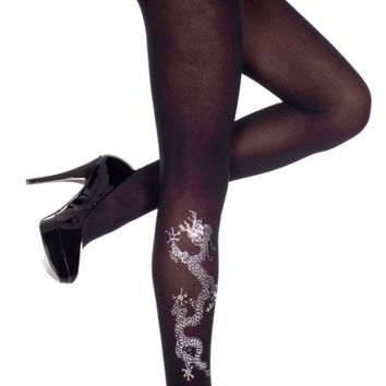 Opaque Dragon Print | TIGHTS