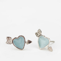 Diament Jewelry for Urban Renewal Arrow-Heart Stud Earring